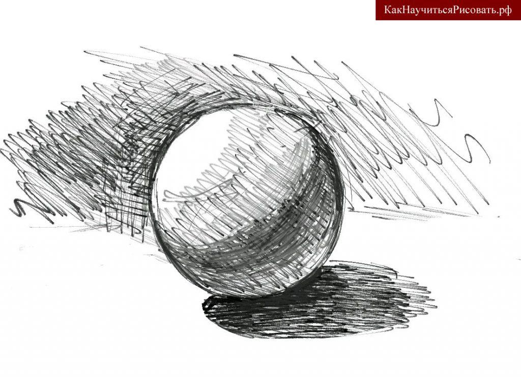 Окружающая атмосфера шара в рисунке