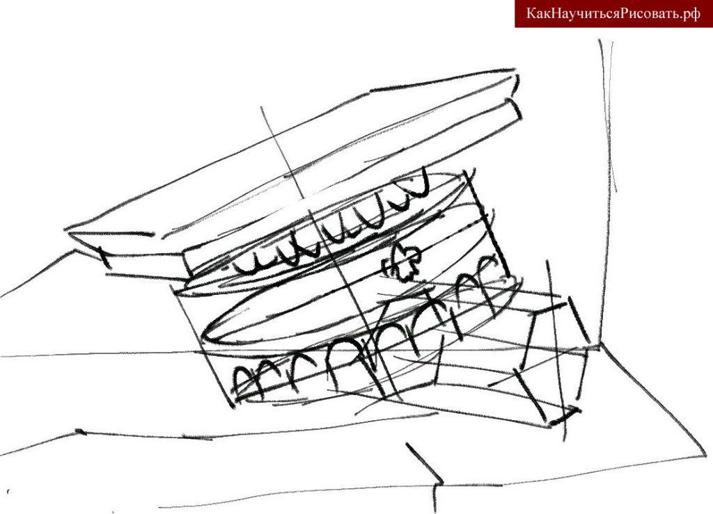 Линейное построение натюрморта